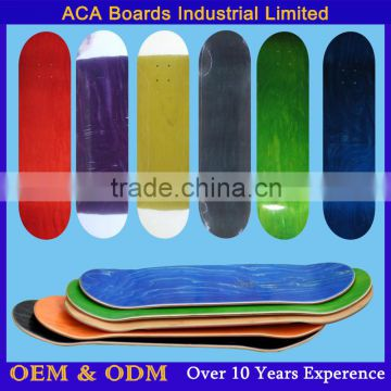 "31x7.75"" Stained Color Canadian Maple Skateboard Deck blank skateboard decks wholesale"