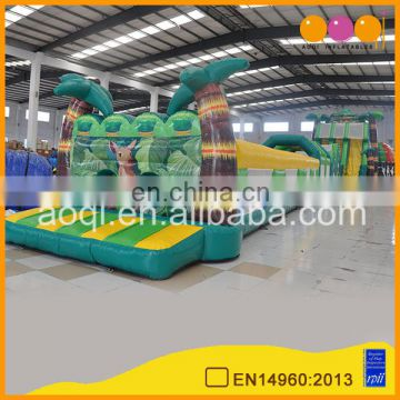 Over 22 years of experience Chinese factory inflatable tropical grand combination game inflatable obstruction on sale