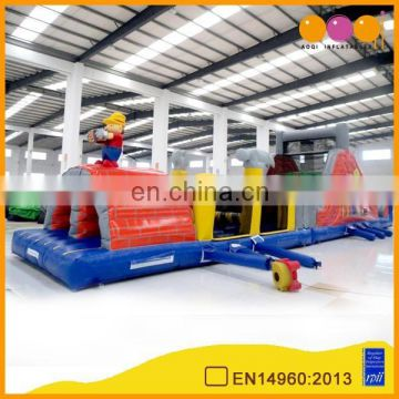 AOQI build labourer obstacle course inflatable for sale
