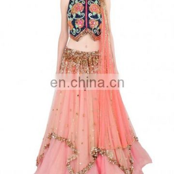 Peach Body Fit Lehenga