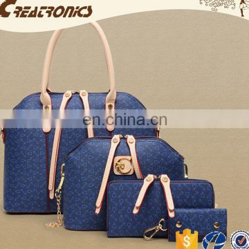 CR Europe market expert new products on china market ladies 4pcs bags high capacity bag set navy women handbag 2016