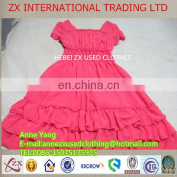 2014 new fashion used clothing lady cotton dress used clothing from usa