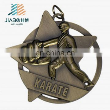 engraved custom metal antique color award medals taekwondo
