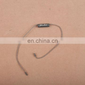 Factory Made Special Shaped Black Plastic Seal Tag for Clothing