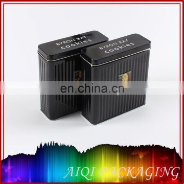 popular small silver slide top metal tin box