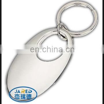 cheap metal crafts round ring key chains with different shape design