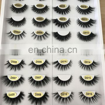 D005 mink eyelashes with custom packaging wholesale human hair eyelashes