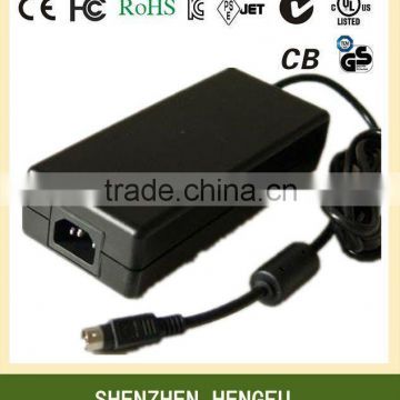 DESKTOP 90-264V AC DC 12V 5A CCTV Power Supply 60W
