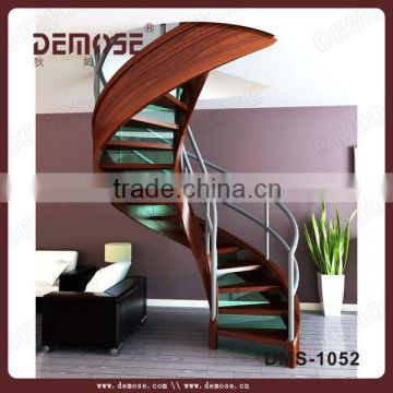 Interior Wood Veneer Stairs Grill Design Of Spiral Staircase From