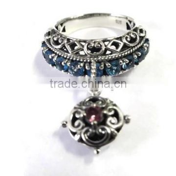 925 Sterling Silver Gemstone Multi Rings