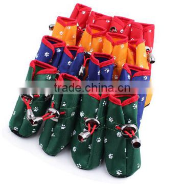 Wholesale outdoor pet dog waterproof shoes/dog rain boot