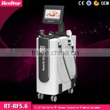 Realtop 5 in 1 vaccum machines cavitation training for weight loss and body shape New ideas and innovations 2016 Ultra cavitatio