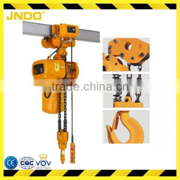 Double chain 5 ton chain electric hoist with remote control