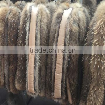 BBG-H-8 High quality customized type dyed raccoon fur trim for hood or collar