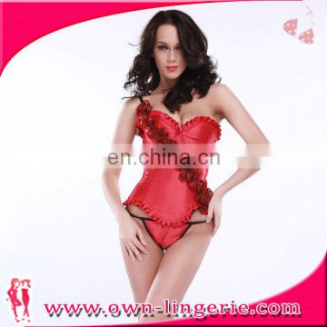 New elegant ladies corset dress Slimming Wholesale Red Flower shaper corset