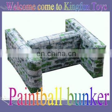 """H"" Shap inflatable paintball bunkers with printing"