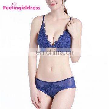 Factory Price Stylish Hot Mature Woman Sexy Designer Padded Bra And Panty Set