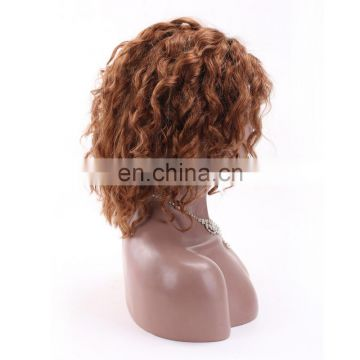 100% density full lace wig virgin brazilian kinky curly full lace wig