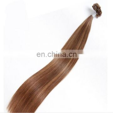 Top quality V-tip human hair wholesale best selling pre-bonded european hair factory fast delivery