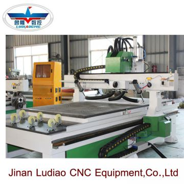 Automatic tool change four spindle process CNC router 4*8ft for wood kitchen cabinet door making