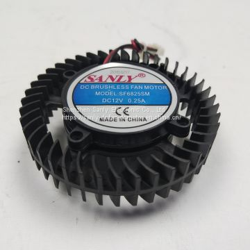 DC 12v 6825 Series brushless cooling fan centrifugal fan