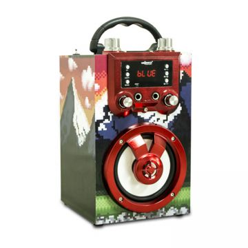 Hot Double Karaoke BT Spot Speaker  Multifunctional with USB and TF card in Party
