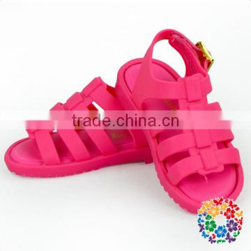 2017 latest China wholesale kids shoes pink girls flat sandals
