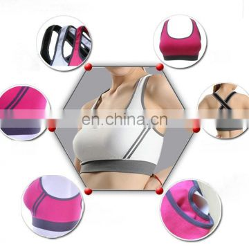 hot sale high quality seamless sexy sports bra/cross shock beauty back non-trace yoga bra