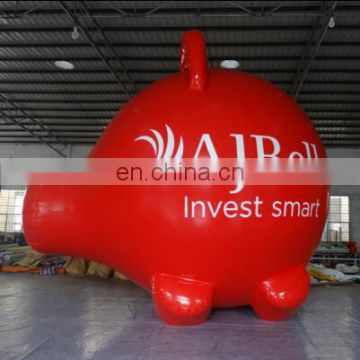 air-tight advertising inflatable pig in red