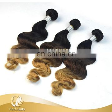 Hot Sell Peruvian Human Hair, 100% Raw 3 Tone Peruvian Body Wave Hair Extension