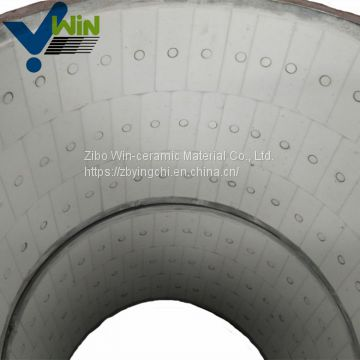 Shandong wholesale ceramic lined bend pipe pipe fitting names and parts
