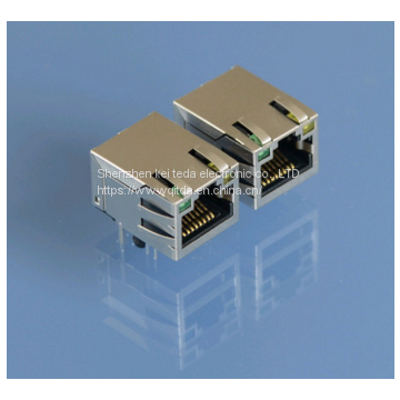 Start the connector RJ45 front-end ports connector router