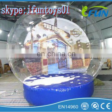clear inflatable human snowglobe for christmas /christmas human snow globe / outdoor inflatable snow globe