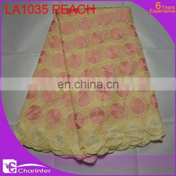 Guangzhou african voile lace nigerian lace cheap lace fabric wholesale