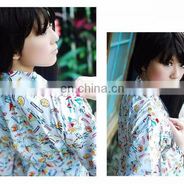 chinavictor clearance 100% cotton hot sex girl adult one size japanese peignoir