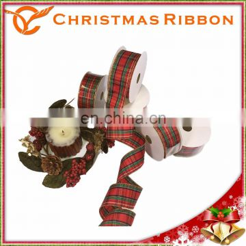 "Elegant 1.5"" X 10y Plaid Christmas Ribbon Are Available"