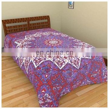 Purple Star Mandala Duvet Cover Cotton Doona Cover Throw Decor Indian Mandala Quilt Cover