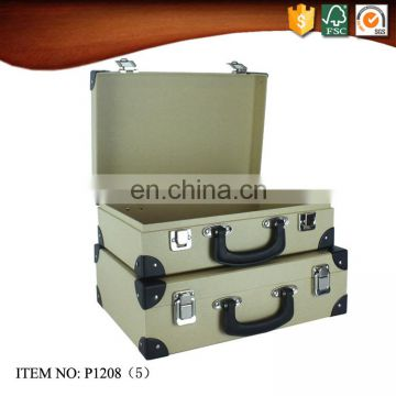 Kraft Cardboard Suitcase Box with Lock