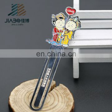 custom design antique zinc alloy souvenir love unique magnetic bookmarks
