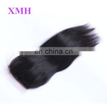 8a Unprocessed Brazilian Virgin Hair Straight Natural Hairline Free Part Closure Lace Frontal with Baby Hair