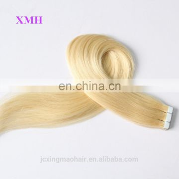 Russian Blonde Hair Extensions Remy Tape Hair Guangzhou
