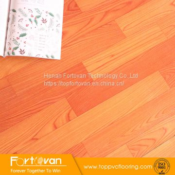 residential use wood look felt-back flooring pvc on sale