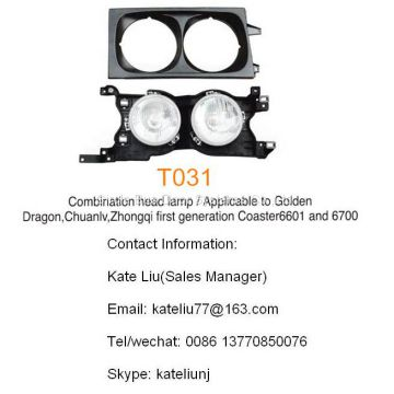 Toyota coaster Combination head lamp(T031),applicable to coaster 6601 and 6700,Golden dragon