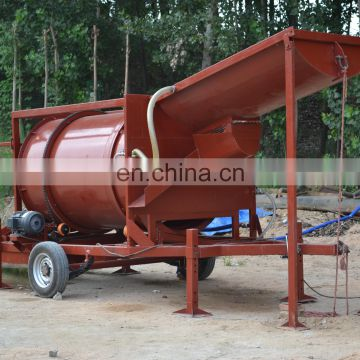Good quality and low cost China manufacture gold mining equipment washing machines gold trommelplant