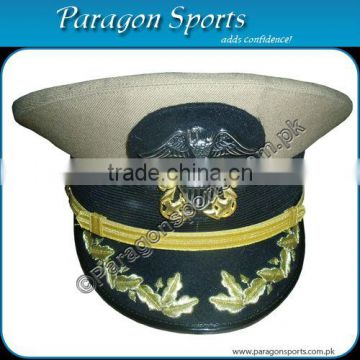 US Navy Captain Officer Khaki Peaked Cap