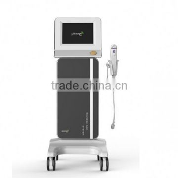 Painless Newest Beauty Machine 2013 Guangdong High Frequency Portable Facial Machine High Intensity Focused Ultrasound Hifu Skin Tightening