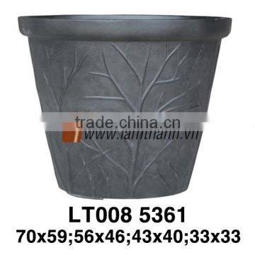East Asia Wholesaler Modern Classic Decorative Poly Stone Pot