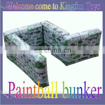 Simulation inflatable paintball wall with printing
