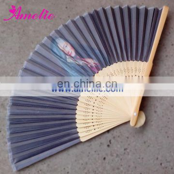 A-F06 Personalized photo printed hand fans