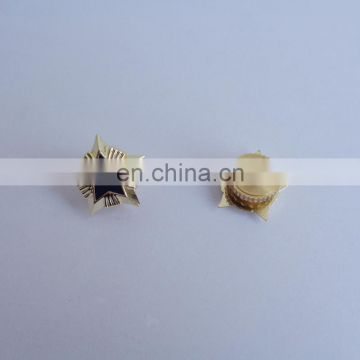 3D Star Design Metal Brooch Pin